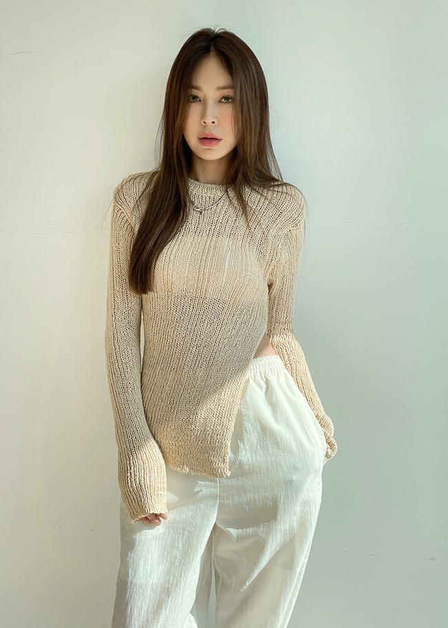 Side Slit Knit Top