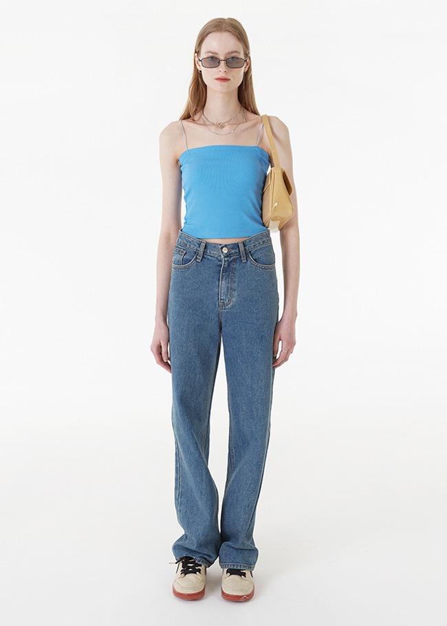Loose Leg Blue Jeans
