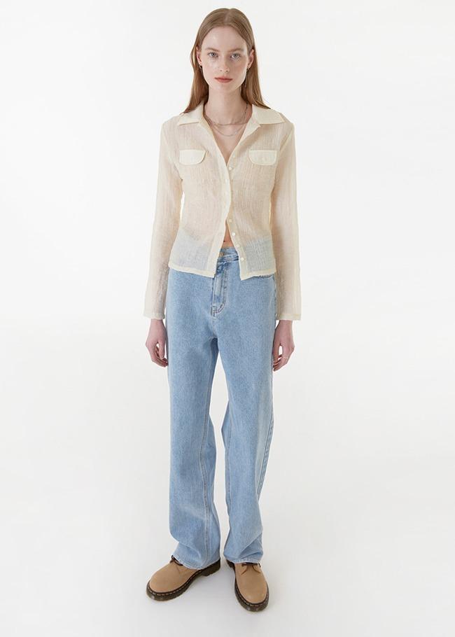 Basic Straight Light Blue Wash Jeans