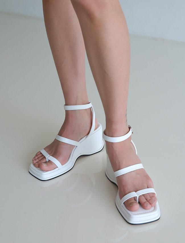 Cross Ankle Strap Wedge Sandals