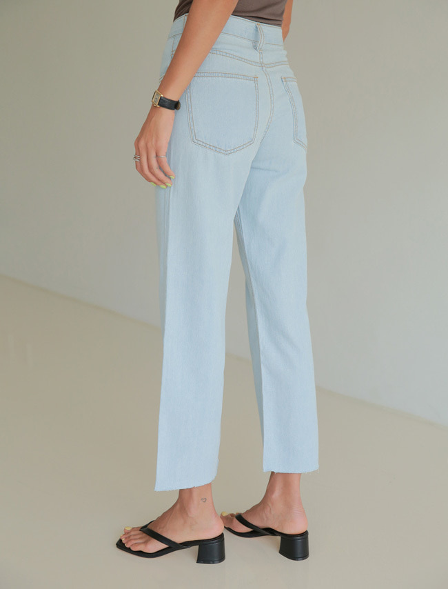 Light Blue Straight Cut Jeans