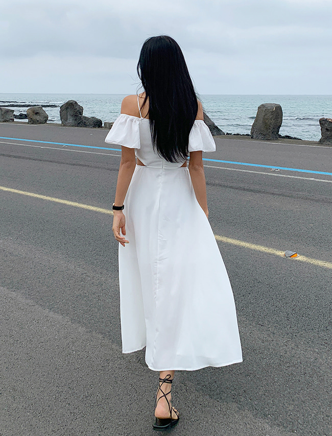 Side Cutout Off-Shoulder Dress