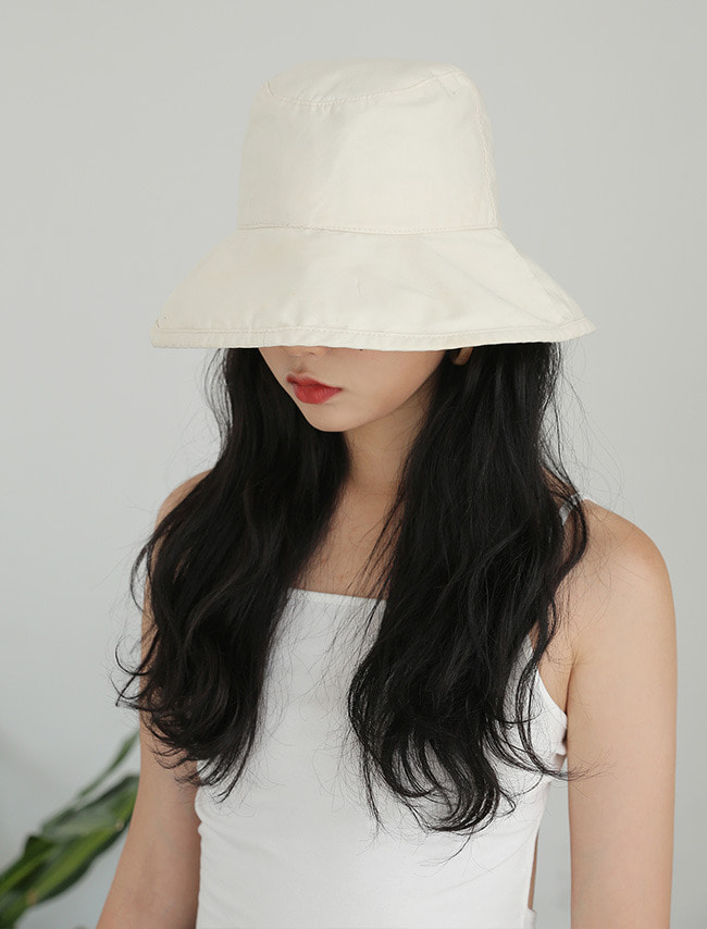 Wide Brim Cotton Bucket Hat