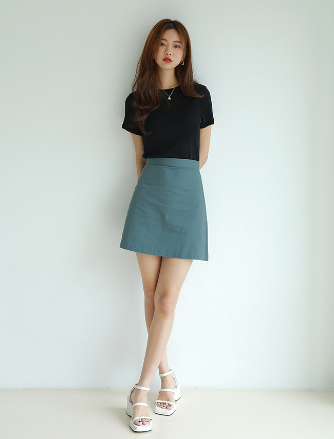 Mini A-Line Cotton Skirt