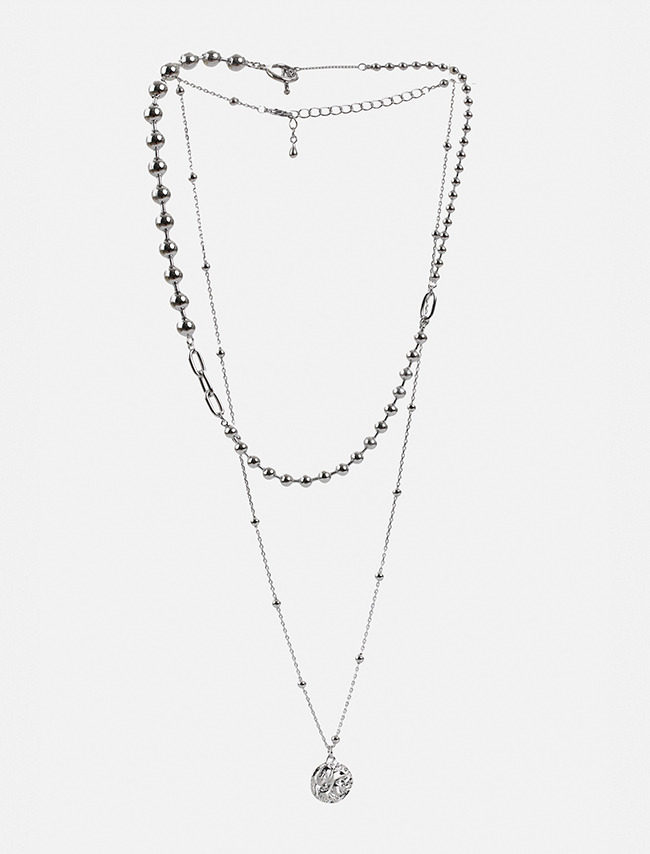 Two-Piece Ball Chain Necklace Set