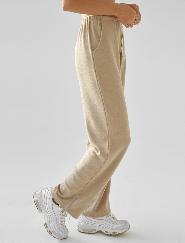 Latte Beige Drawstring Training Pants