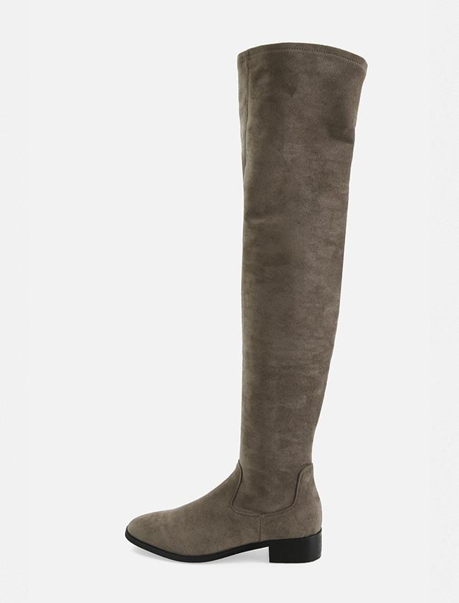 Low Heel Side Zip Tall Boots