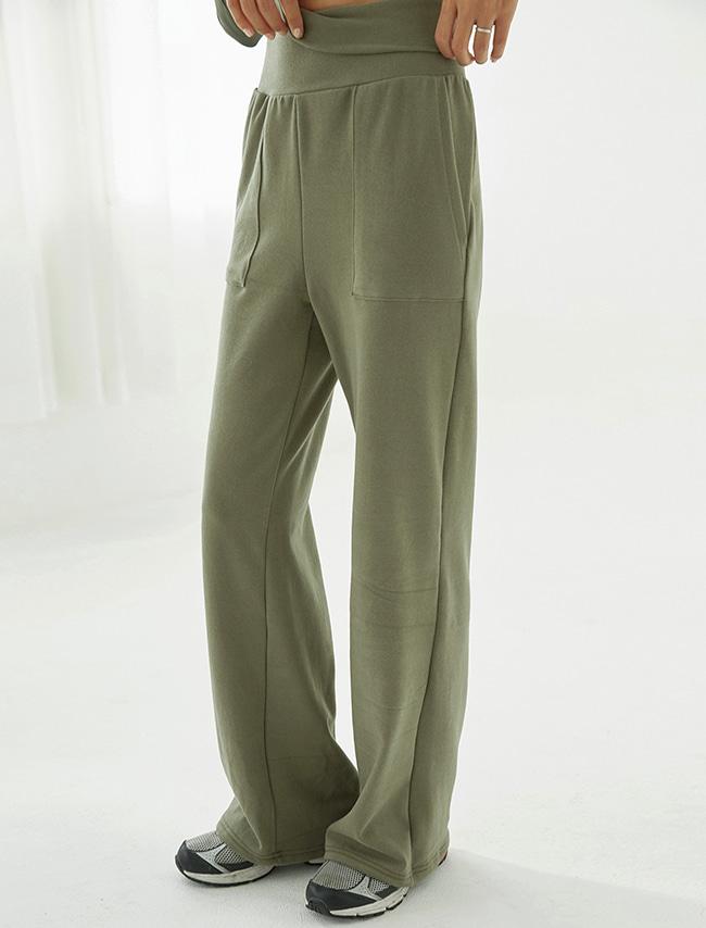 Olive Khaki High Waist Training Pants