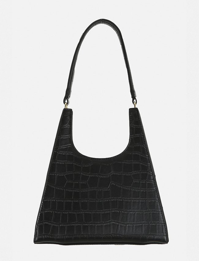 Faux Crocodile Leather Shoulder Bag