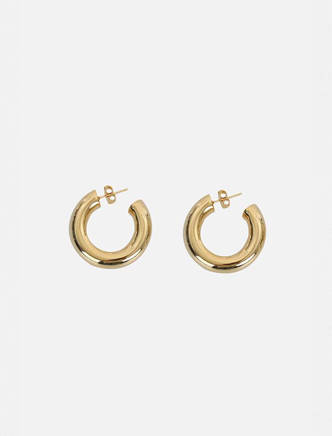 Cylindrical Hoop Earrings