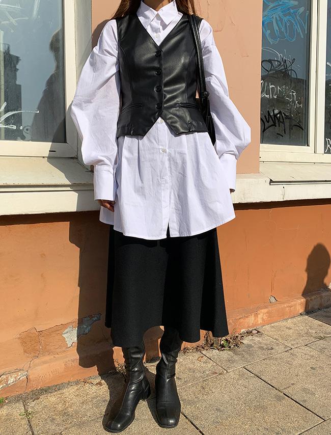 Long Flared Knit Skirt