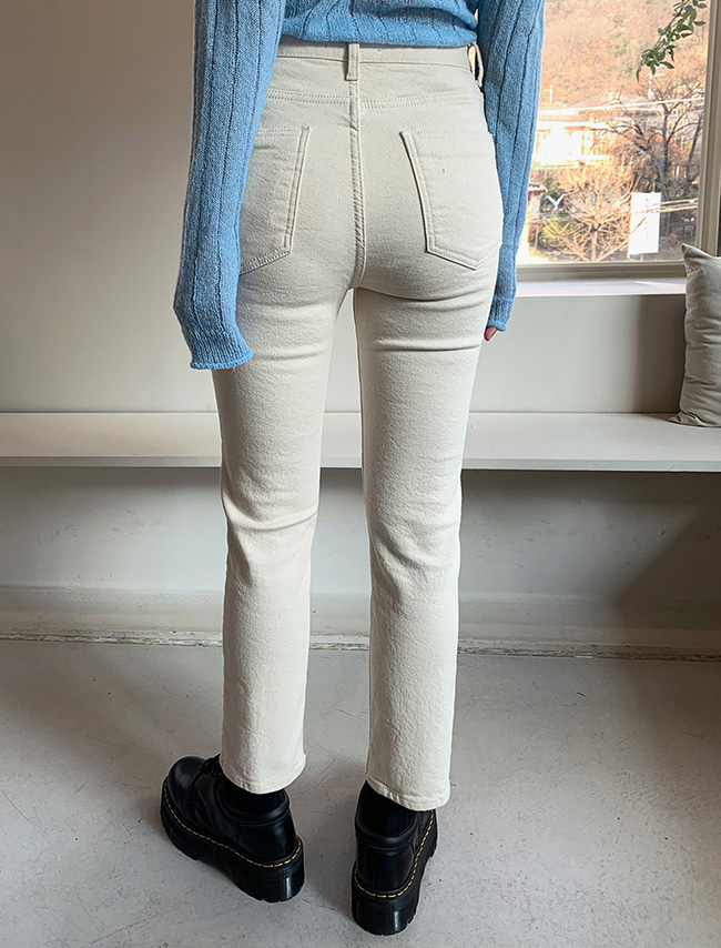 Solid Tone Fleece-Lined Slim Fit Jeans