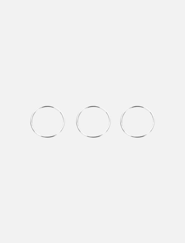 Three-Piece Silver Ring Set