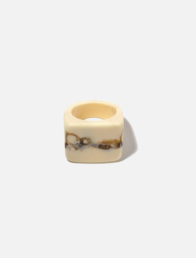Marbled Square Top Ring