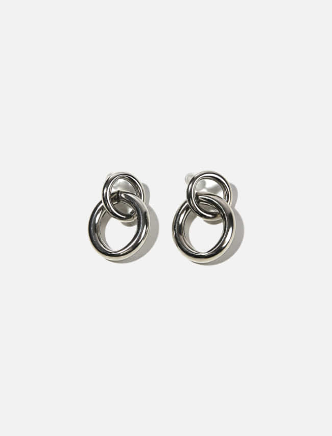 Glossy Double Hoop Earrings