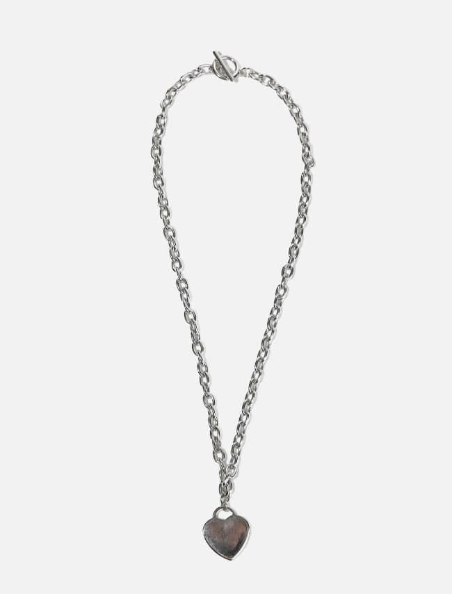 Toggle Lock Heart Pendant Necklace