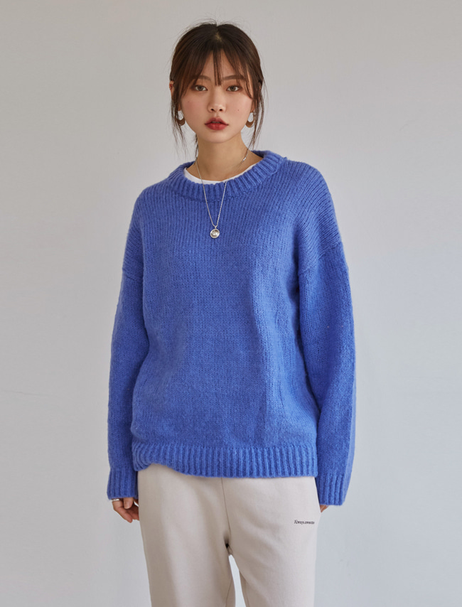Basic Solid Tone Ribbed Knit Top