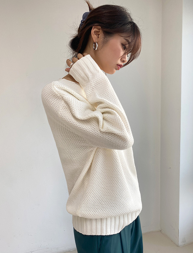 Loose Waffle Knit Top