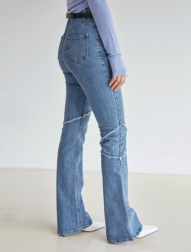 Fringed Bootcut Jeans