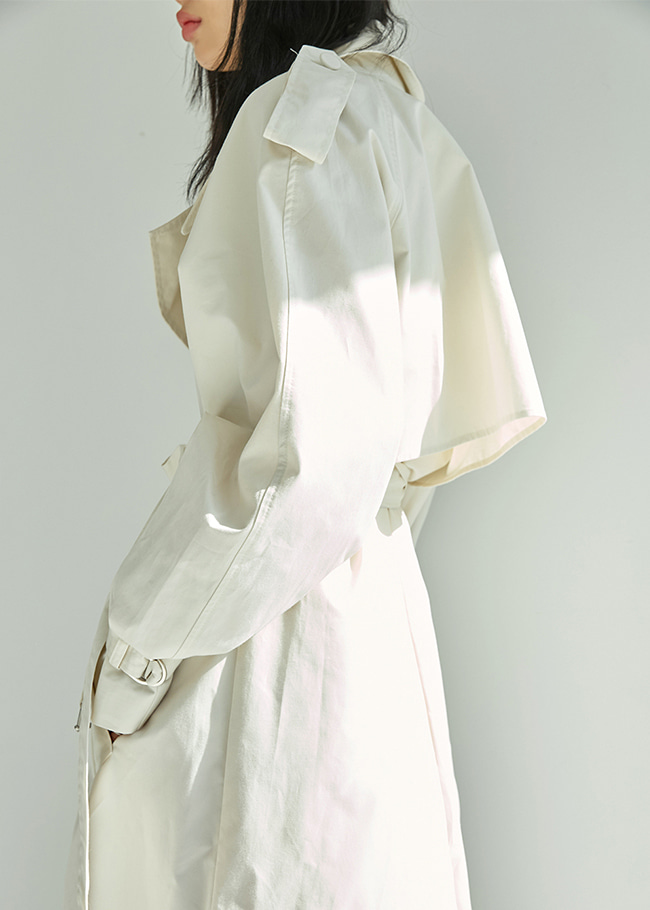 Loose Fit Double-Breasted Trench Coat