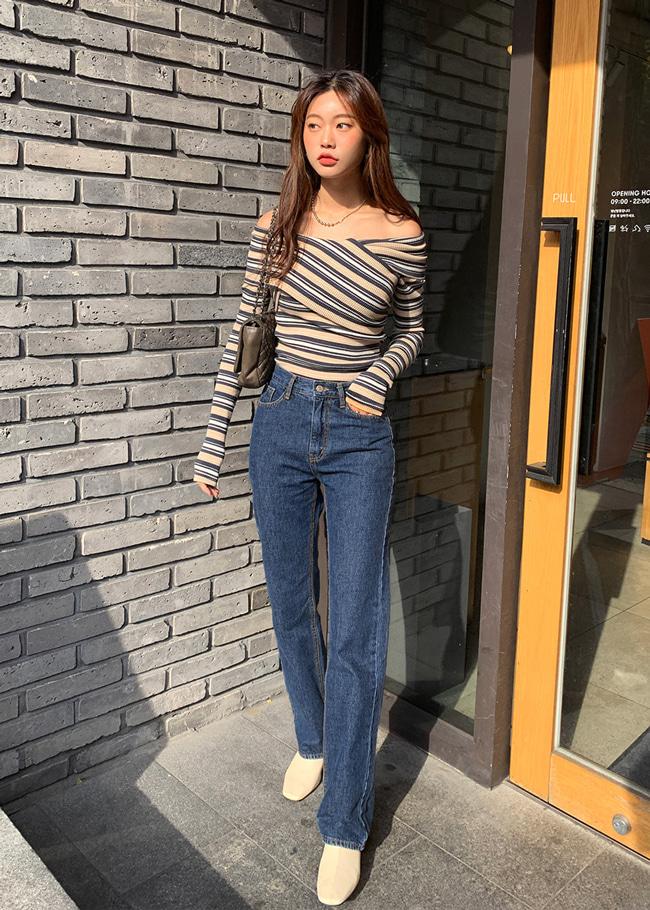 Straight Dark Denim Jeans