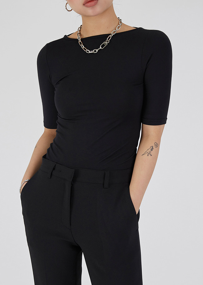 Two-Way Strap Accent T-Shirt