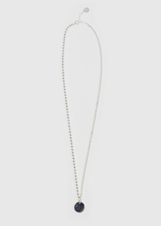 Disc Pendant Metallic Necklace