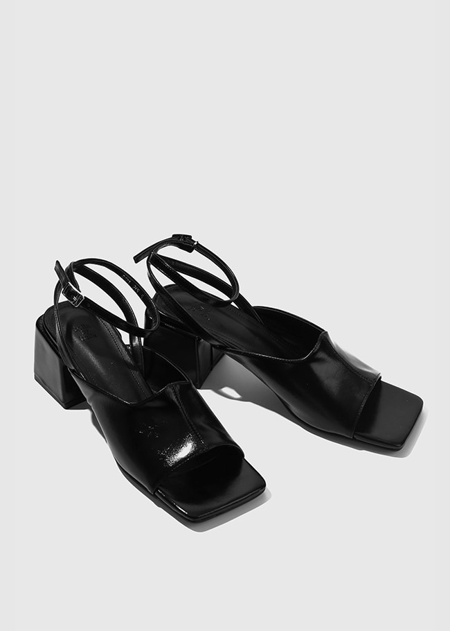 Square Open Strappy Shoes