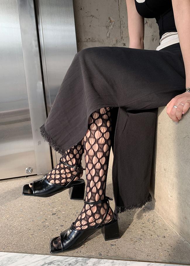 Slit Detail Fringe Skirt