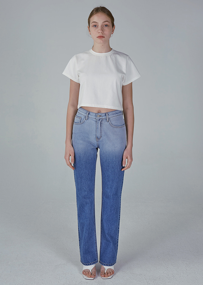 Gradient Straight Jeans