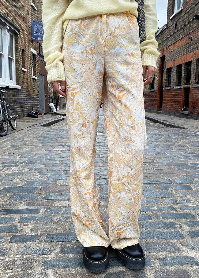 Foliage Print Pants