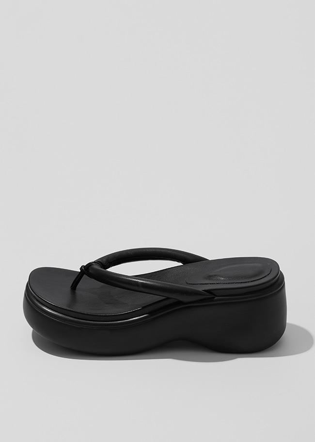 Platform Thong Strap Slide Sandals