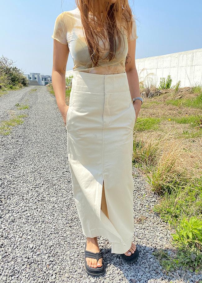 High Slit Long Skirt