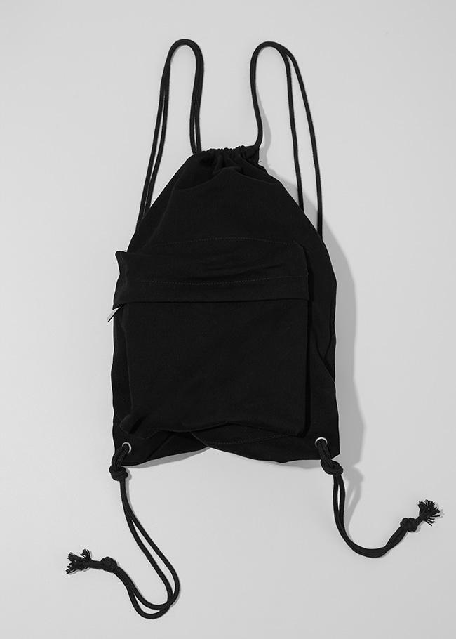 Zippered Pocket Drawstring Backpack