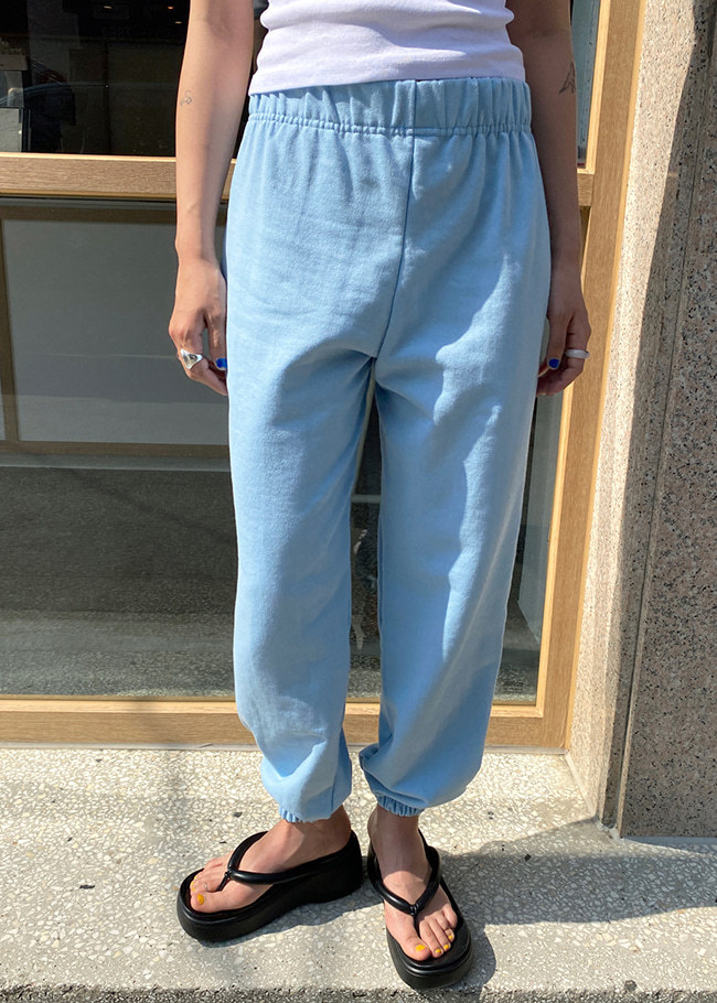 Solid Tone Basic Baggy Jogger Pants