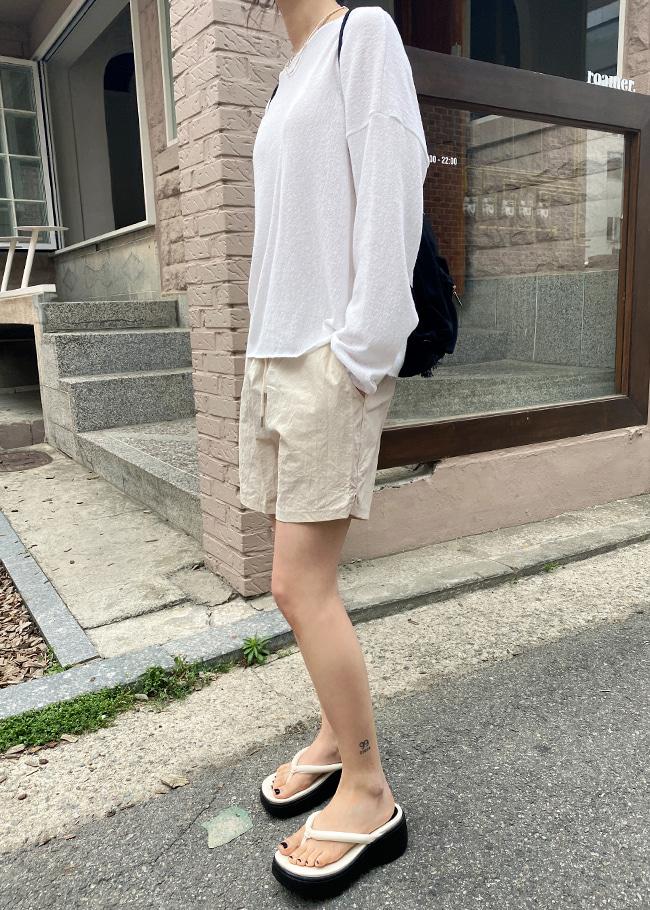 Drawstring Waist Summer Shorts