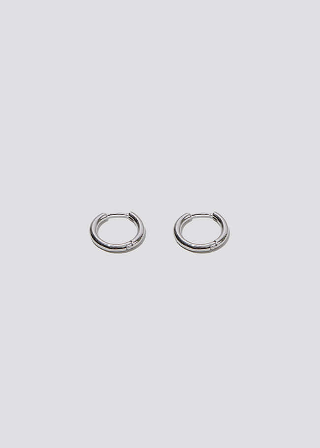 Silver Tone Mini Hoop Earrings