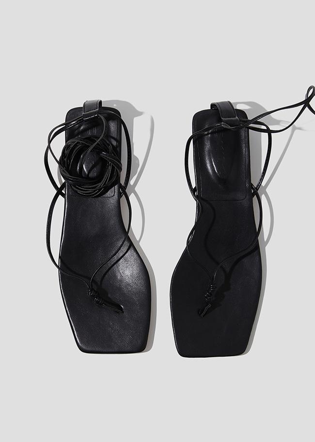 Wraparound Ankle Strap Low Heel Sandals