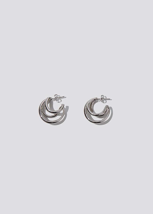 Triple Looped Hoop Earrings