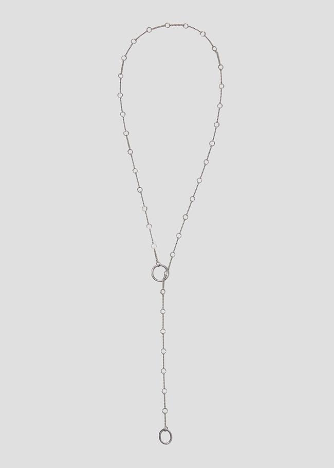 Drop Ring Pendant Lariat Necklace