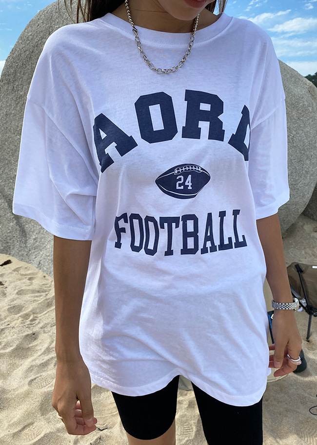 AORD FOOTBALL Print Loose Fit T-Shirt