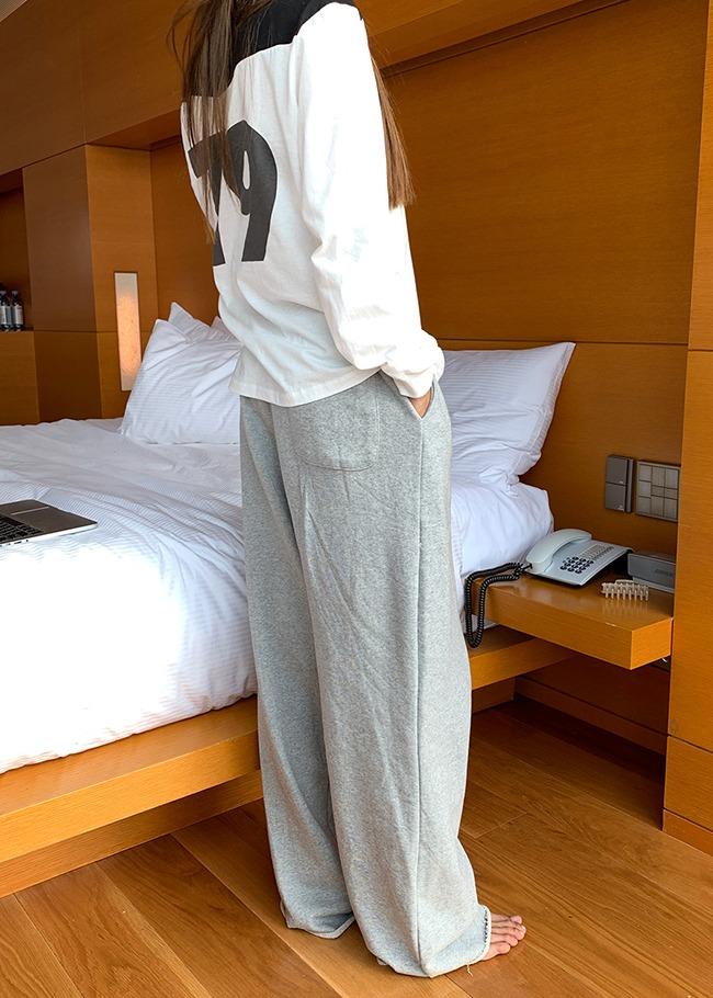 Raw Hem Training Pants