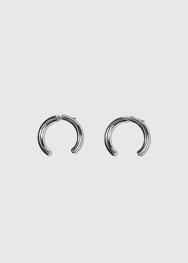 Open Hoop Front and Back Earrings