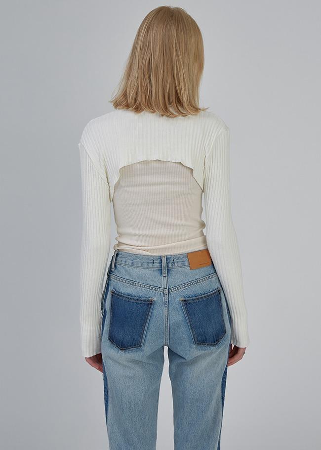 Contrast Trim Jeans