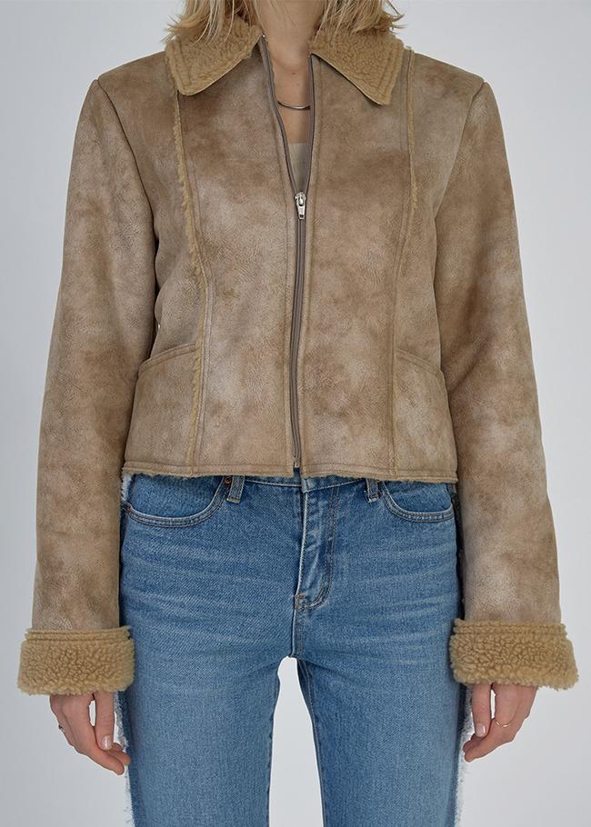 Sherpa Fleece Shearling Jacket