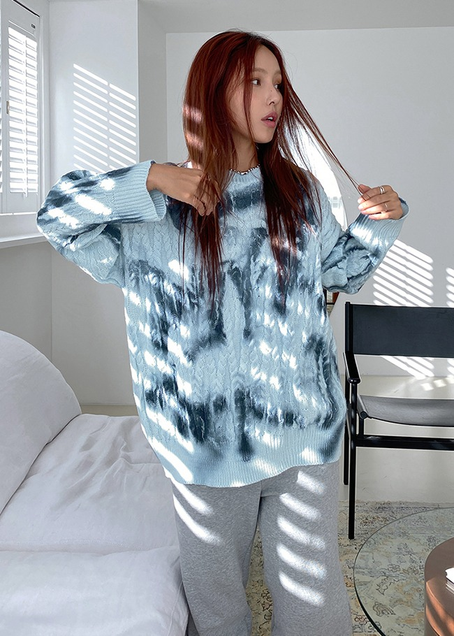 Watercolor Cable Knit Top