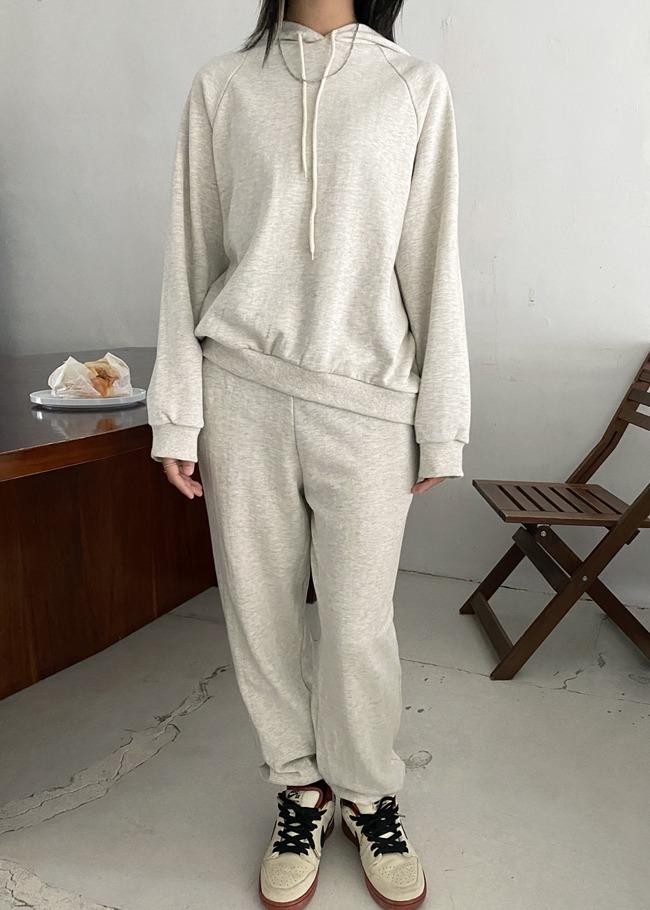 Hooded Sweatshirt and Pants Set