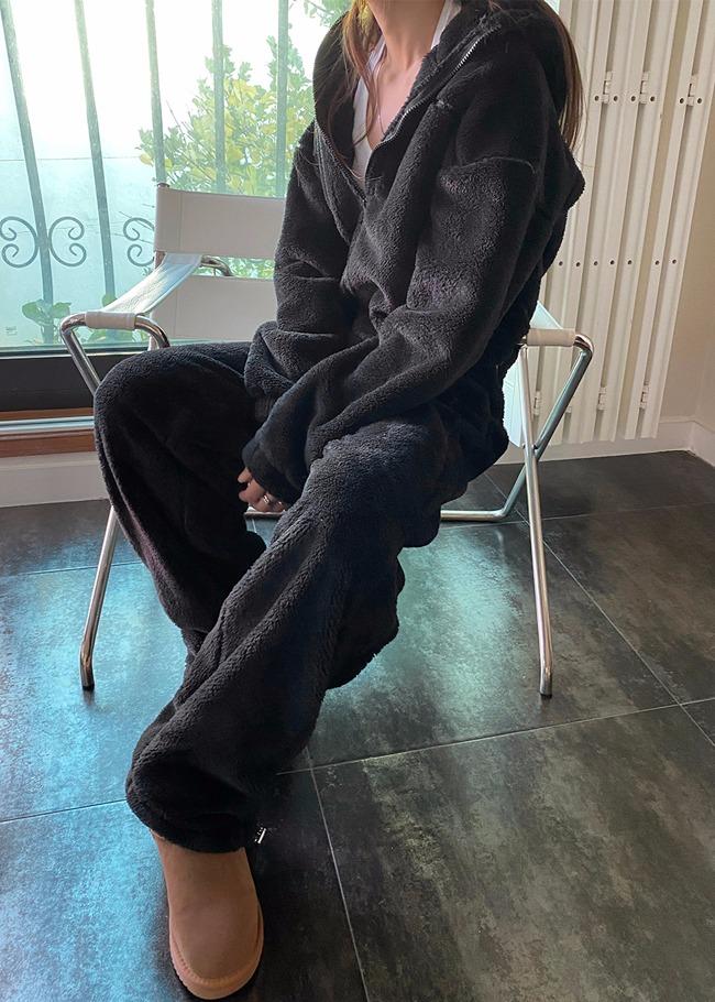 Fleece Hoodie and Pants Set