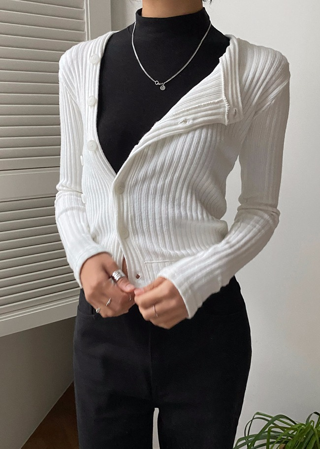 Button-Up Two-Way Cardigan
