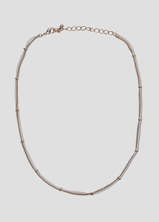 Double Color Link Chain Necklace
